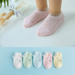 Infant Lowers Australia - Infant Baby Girls Boys Non Slip Breathable Conventional Comfortable All seasons Low Tube Pair of Cute Socks