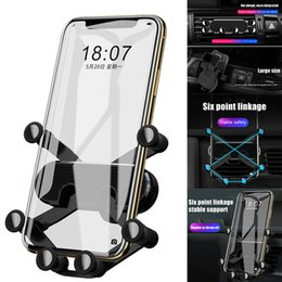 Universal Car Phone Holder Gravity Stand Car Air Vent Mount Holders Flexible Adjustable Mobile Phone Stand JLRJ88 from fitted bedding manufacturers