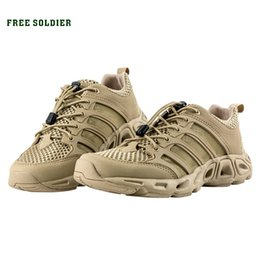 Camp Shoes For Men Australia - FREE SOLDIER Outdoor Sports Camping shoes for Men Tactical Hiking Upstream Shoes For Summer Breathable Waterproof Coating #4479
