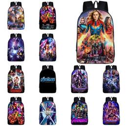 $enCountryForm.capitalKeyWord Australia - Marvel Avengers Backpacks 30 Designs Superhero 3D Printed Large Capacity Kids Backpacks Student Schoolbags designer backpack DHL SS325