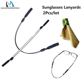 $enCountryForm.capitalKeyWord NZ - string elastic Maximumcatch 2pcs Sunglasses Lanyard Elastic Sport adjustable String for Spectacles and Mobile Sunglasses Lens Cleaner