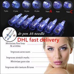 needle for micro pen Australia - DHL fast delivery 9 12 36 42 Nano pins for Derma pen Micro Needle rechargeable dermapen dr pen A6 Needle cartridge