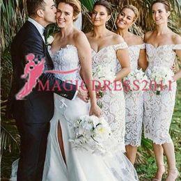 $enCountryForm.capitalKeyWord Australia - 2019 New Design Cheap Bridesmaid Dresses Lace Off The Shoulder Short Sleeves A Line Junior Sheath Bridesmaid Dresses Cheap for sale