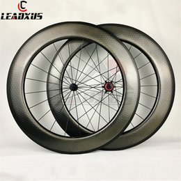 carbon fiber bicycle bikes NZ - LEADXUS Full Carbon Fiber T700 700C Road Bike Carbon Wheel Dimple Wheelset 80mm Clincher Tubular Bicycle Wheels