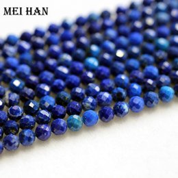 $enCountryForm.capitalKeyWord Australia - Meihan Natural Lapis Lazuli 4.5mm (2 Strands set) Faceted Round Gem Beads For Jewelry Making Design Fashion Stone Diy Bracelet J190625