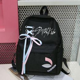 Exo Backpacks Australia - New Harajuku Exo Backpack Women Harajuku Got7 Monsta X Twice Stray Kids Nct Canvas Bag Rucksacks Girls Backpacks Sac A Dos Femme Y19061102