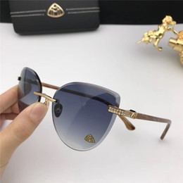 e398bd82bf Fashion diamonds MAYBACH sunglasses 8100 ladies frame hollow board frame  avant-garde design style top quality uv protection glasses with box