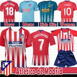 7c217c45 2019 Thailand Atletico GRIEZMANN Madrid Home away Soccer Jersey KOKE SAUL  GODIN TORRES CORREA Lucas Luis Costa football shirt kids Kits