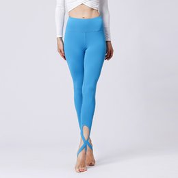 Xl Womens Leggings UK - Womens Bottoms Bandage Pants High Waisted Workout Leggings Sexy Elastic Tights Sports Yoga Pants Fitness Trousers Running Dance Skinny Pants