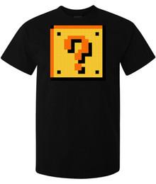 Super Blocks Australia - Super Mario Brothers Question Mark Block men's (woman's available) t shirt black