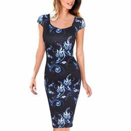 $enCountryForm.capitalKeyWord UK - Dresses Casual Summer Sheath Women Dress Floral Print Vestidos Free Shipping Plus Size good quality drop shipping designer clothes