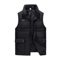 $enCountryForm.capitalKeyWord Australia - Winter Black Cotton Padded Thick Vest For Men Autumn Warm Casual Multi Pocket Big Sleeveless Waistcoat Windbreaker Brand Jacket