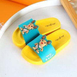 $enCountryForm.capitalKeyWord Australia - Children Slippers For Summer Boys Sandals Kids Flip Flop Home Bath Shoes Girls Baby Casual Non-slip Flat Beach Shoes Animal Cute