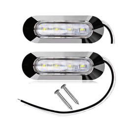 Wholesale Trailer Lights Australia - 2pcs 4 LED For Fender Truck Trailer Universal Side Marker Clearance Light 12v 24v LED Side Marker Lamp Car styling