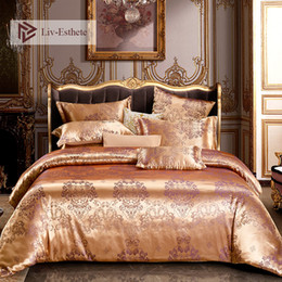 $enCountryForm.capitalKeyWord UK - Liv-Esthete Euro Palace Jacquard Luxury Bedding Set Double Queen King Duvet Cover Flat Sheet Decorative Bed Linen For Wedding