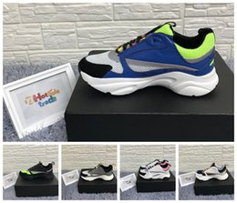 fall running shoes 2019 - B22 Running Shoes B22 Sneaker Yellow Technical Knit And Blue Calfskin Designer Shoes Reflective Calfskin B22 Sneakers Me