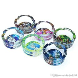 ashtray for wholesale Canada - Wholesale High quality Glass ashtray for Cigarettes Outdoor Easy Clean House Decorations Crystal Ash tray for Home Office
