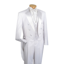 $enCountryForm.capitalKeyWord UK - Tailcoat Morning Style Groomsmen Notch Lapel Groom Tuxedos White Men Suits Wedding Prom Dinner Best Man Blazer ( Jacket+Pants+Tie+Vest) G112