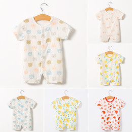 $enCountryForm.capitalKeyWord Australia - 1pcs Summer ultrathin newborn baby clothes jumpsuit short-sleeved romper cotton summer clothing 12 styles retail & wholesale