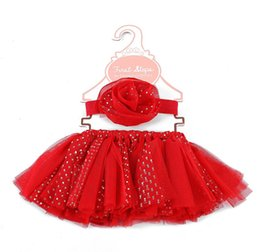 wholesale tutus Australia - Children lace tulle tutu skirt girls sequins lace tulle princess skirt kids chirstmas party skirt+stereo flower headbands 2pcs sets F8664