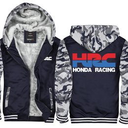 $enCountryForm.capitalKeyWord Australia - Camouflage HRC race motorcycle modified Casual Thicken Hooded Sweatshirts Cotton Zipper Winter Cardigan Jacket USA EU Size