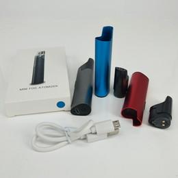 Fog Box NZ - E Cig Starter Kits Mini Fog Thick Oil Vaporizer Atomizer Kits Vape Pen 650mAh Box Mod Battery