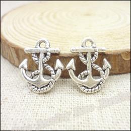Vintage anchors necklace online shopping - 300pcs Vintage Charms Anchors Pendant Antique silver Fit Bracelets Necklace DIY Metal Jewelry Making