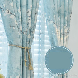 Cotton Drapery Australia - Pastoral curtains shading cotton and linen new ins fresh and versatile living room curtain finished simple modern bedroom all rooms