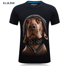 1611f04bc New 2018 Summer Fashion Cool Dog Design Print 3d T Shirt O-neck Men's High  Quality Animal Tops Hipster Hip Hop Casual Brand Tee Y19050701