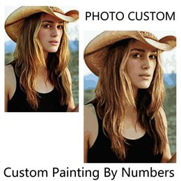 $enCountryForm.capitalKeyWord Australia - High-quality Photo Customized Your Own Diy Oil Painting By Numbers Picture Drawing Canvas Portrait Wedding Family Children J190707