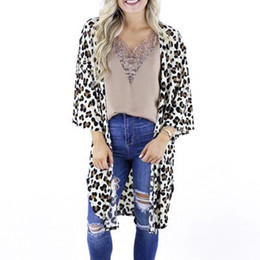 $enCountryForm.capitalKeyWord Australia - 2019 Women Leopard Print Bikini Cover Up Chiffon Beach Dress Cape Cardigan Swimwear Summer Swimsuit Pareos De Playa Mujer Tunics