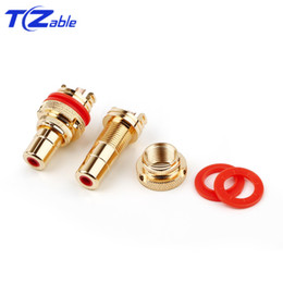 $enCountryForm.capitalKeyWord Australia - Gold-Plated RCA Female Copper Bright Gold Insert Lotus Mother Card Board Female Headphone Audio Wire Audio And Video Connecto