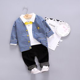 Wholesale Baby boys clothing sets spring autumn kids casual coats shirts pants tracksuits for boys children sports suits outfits