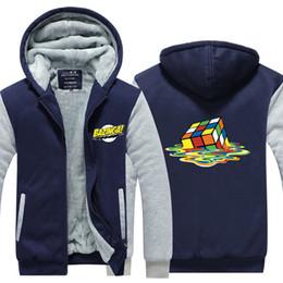 $enCountryForm.capitalKeyWord Australia - Men Casual Thicken The Big Bang Theory Rubik Cube Sweatshirts Winter Cashmere Hoodie Zipper Jacket Leisure Sweatshirts USA EU Size