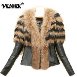 9b9cab00978 2018 Faux Fur Coat Jacket Womens Winter PU Leather Fur Coats Female Slim  Short Fluffy Overcoat Hairy Outerwear Plus Size 6XL