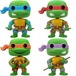 Turtles Figures Australia - LOW price Anime Toys For Children FUNKO POP Teenage Turtles Action Figure Collection Toy Toys For Kids 1pcs