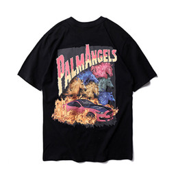 8a3a70a7f Palm Angels T Shirts Spring Summer Fashion Cotton Palm Angels Too Tee High  Quality 3D Printing Painting Palm Angels T-Shirts