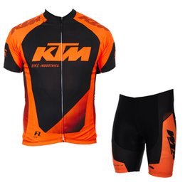 Bicycle Prices Australia - Cycling Short Sleeves Jerseys Bib  Shorts Suit Hot Sale Ktm Team Summer Men Bicycle Clothing Good Quality Low Price Maillot Ciclismo 91926y