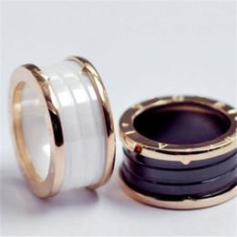 $enCountryForm.capitalKeyWord Australia - Black White Ceramic Whorl Rings Rose Gold Silver Metal Colors Titanium Stainless Steel Brand B Letter Ring Fashion Jewelry Size 5 To 10 0816