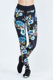 $enCountryForm.capitalKeyWord Australia - New Womens Floral Print Yoga Pants Legging Fitness Workout Long Skinny Pants Trousers Runing Sports Pant Leggings