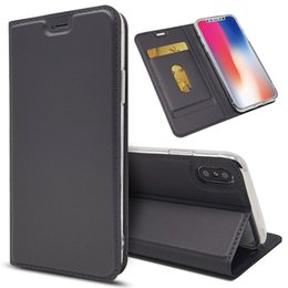 Luxury designer waLLet case online shopping - Luxury Designer Phone Case for iPhone X XR XS Max Plus PU Leather Cover Flip Case Hull Holder Stand Photo Frame Cover