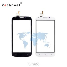huawei ascend screen NZ - 5.0'' for Huawei Ascend Y600 Touch Screen Digitizer Sensor Front Glass Lens Panel Touchscreen High Quality Phone Parts