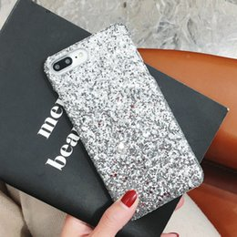 Iphone Girl Silver Case Australia - Glitter Hard Case for Iphone 6s Cases for I Phone X XS MAX XR 8 7 6 6S Plus Girls Glitter Bling Crystal Covers for I Phone 8plus 1pc