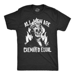 $enCountryForm.capitalKeyWord Australia - Mens All Men Are Cremated Equal Tshirt Funny Halloween Party Tee For Guys Short Sleeve Plus Size t-shirt hoodie hip hop t-shirt