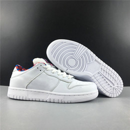 $enCountryForm.capitalKeyWord Australia - New Custom Parra SB Dunk Low Collaborative Man Designer Skateboard Shoes White Pink Rose Gym Red Fashion Sneakers Good Quality With Box