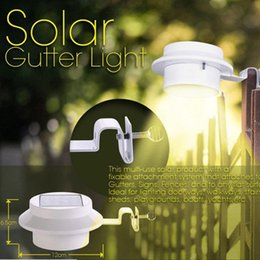 solar gutter led light Australia - Hot Sale Home Wall Light 3 LED Solar Powered Gutter Light Outdoor Home Garden Yard Wall Fence Pathway Lamp Night Light