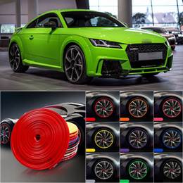 Wholesale 8M Car Wheel Hub Rim Edge Protector Ring Tire Strip Guard Rubber Sticker Decals For Audi TT RS