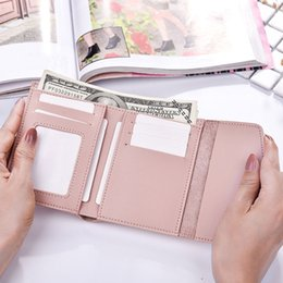 Hasp Ring Australia - Simple Fashion Women Coin Purse PU Leather Candy Color Ring Hasp Card Holder Ladies Girls Casual Short Wallets MSJ99