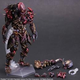 Aliens Vs Predator Figure Australia - Play Arts KAI Alien VS. Predator Alien Hunter PVC Action Figure Collectible Model Toy 27cm KT2113