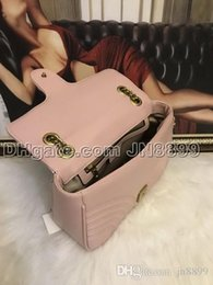 Light pink purses online shopping - Hot Sale Marmont Shoulder Bags Women Chain Crossbody Bag Handbags New Designer Purse Female Leather Heart Style Messenger Bag